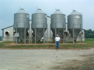 hog barn feed bins